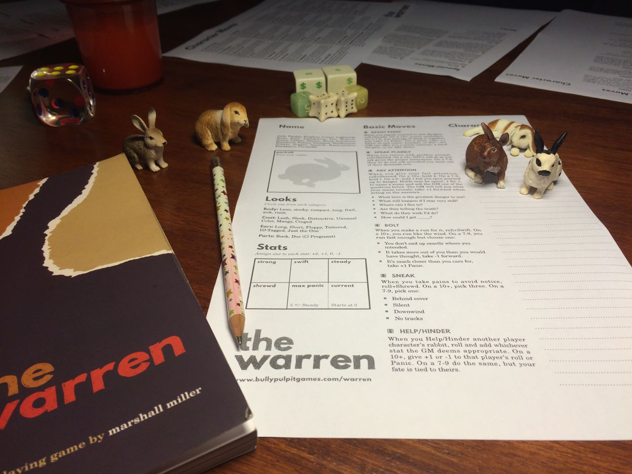 The Warren, review, RPG, Role Over Play Dead