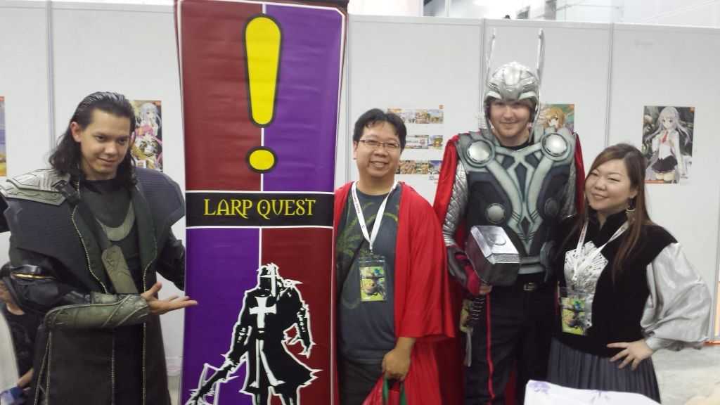 Comic Fiesta LARP RPG Role Over Play Dead