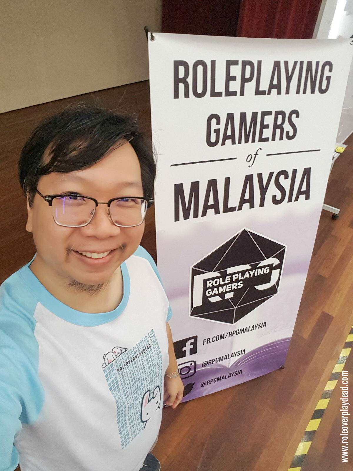 Helping out and doing my part for RPGMY - RolePlaying Gamers of Malaysia.