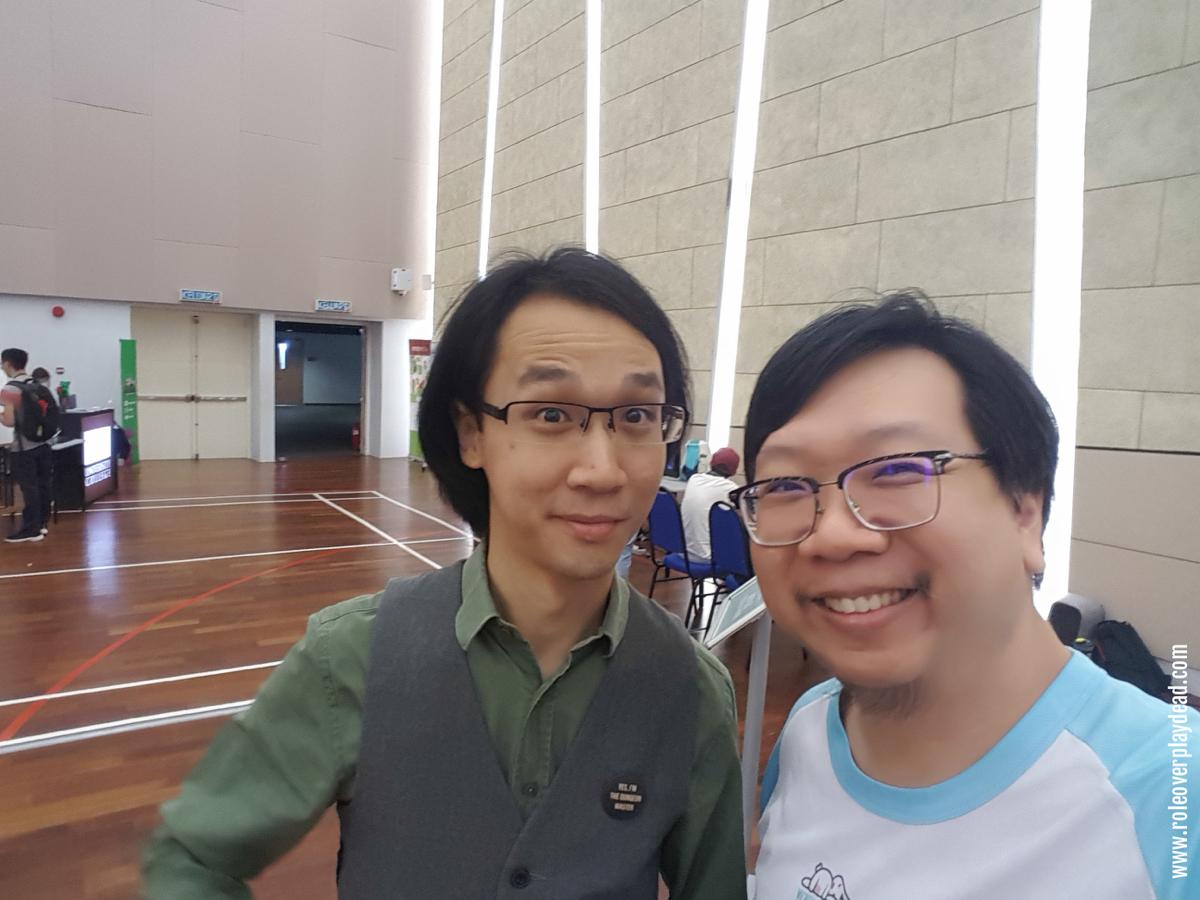 Hanging with Gray Ham, event organiser.