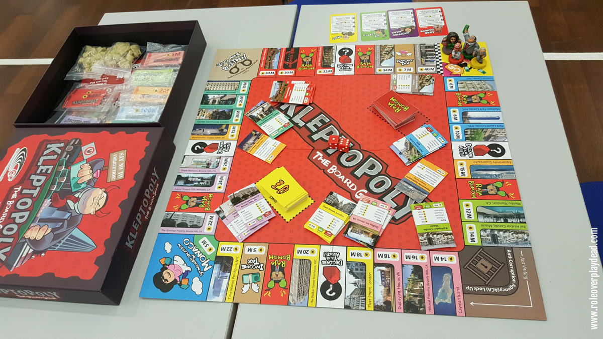 """""""Kleptopoly : The Board Game is designed to help you understand the ins and outs of asset declaration, money laundering and anti-corruption work.   """"We engaged the talents of Hardknock Creatives to deliver a game experience that uses the Malaysian scenario to show you how terrible kleptocracy can be… and that citizens, we have a powerful role to play in checking the government!"""""""