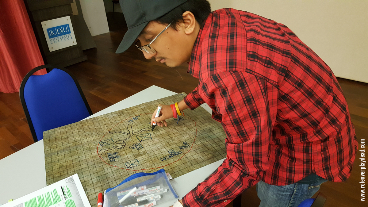 GM Razz preparing a map for Pathfinder. Find out more about GM Razz at Who is Razzman Khaliff?