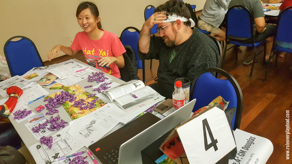 GM Douglas Larke showing his players a good time in Golden Sky Stories.